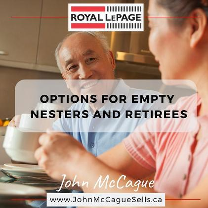 OPTIONS FOR EMPTY NESTERS AND RETIREES